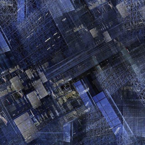 Abstrakte Kunst Blau Fotokunst Limitiert